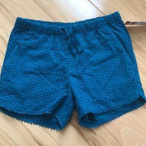 Girls eyelet lace shorts.